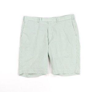 Vintage 90s Ralph Lauren Chino Shorts Green Plaid